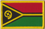 Vanuatu Embroidered Flag Patch, style 08.
